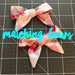Image of Matching Bows (alligator clip or headband)