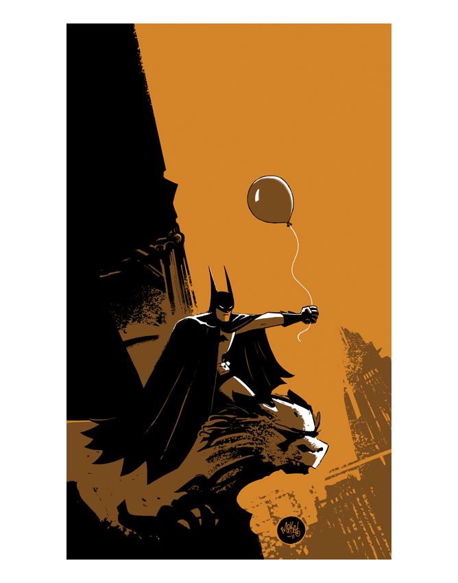 Image of Batman with a Balloon