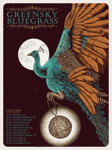 Image of Greensky Bluegrass Fall 2017 Tour Poster (2nd Leg)
