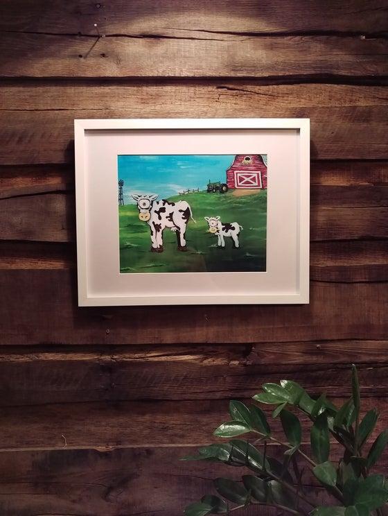 """Image of """"Udder Enchantment"""" (Framed Print)"""