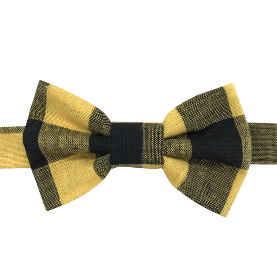 Image of check bow tie