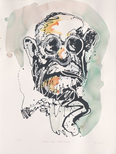 Image of Natural Born Pollock / Freud hand finished  (Dark Green)