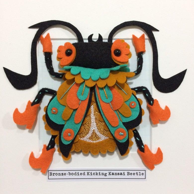 Image of Bronze-bodied Kicking Kansai Beetle