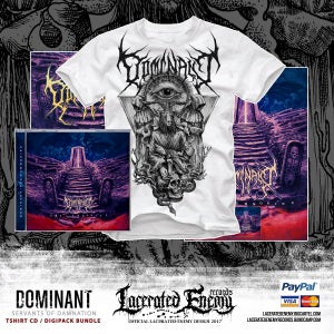 Image of DOMINANT - Servants of Damnation Tshirt - CD / Digipack BUNDLE