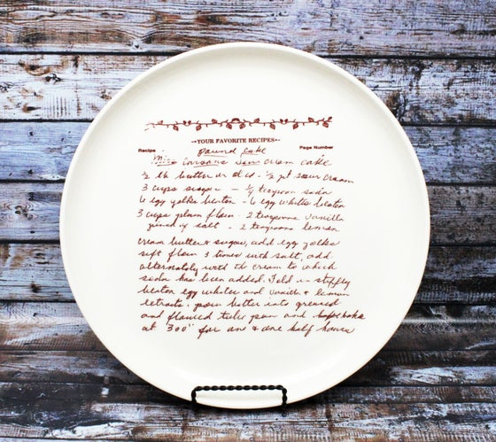 Image of Custom Family Recipe Plate