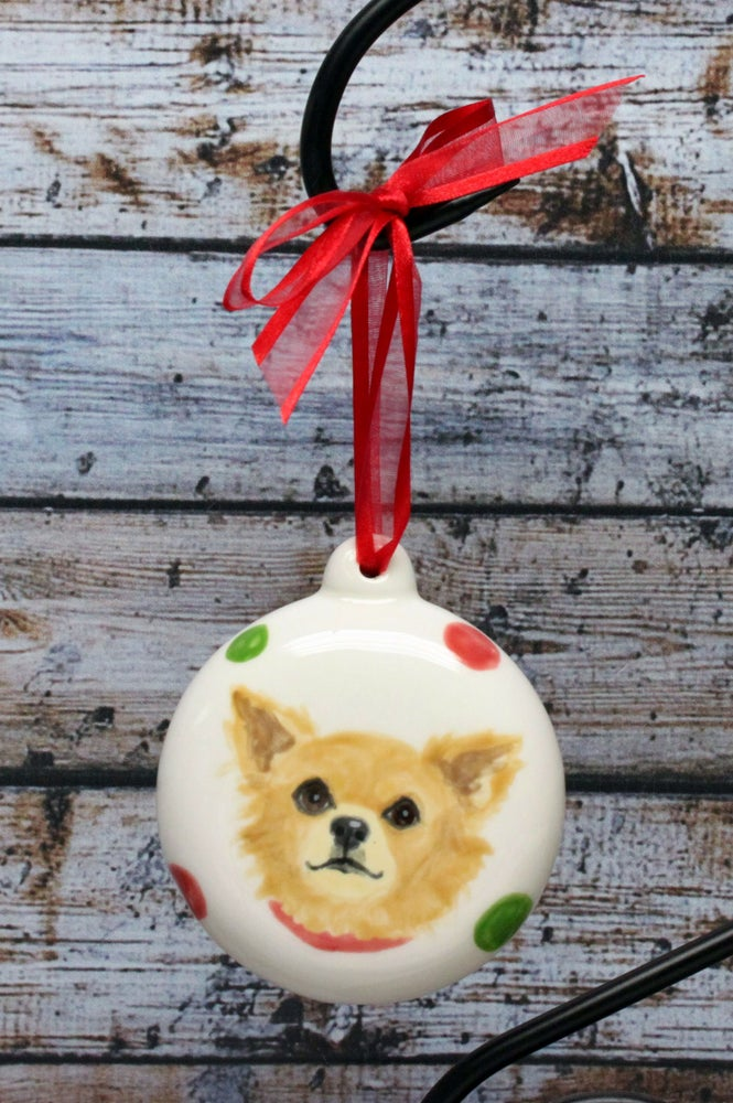Image of Pet Portrait Ornament Hand Painted