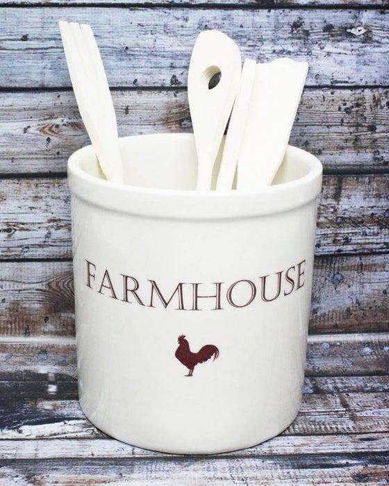 Image of Farmhouse Utensil Holder Crock