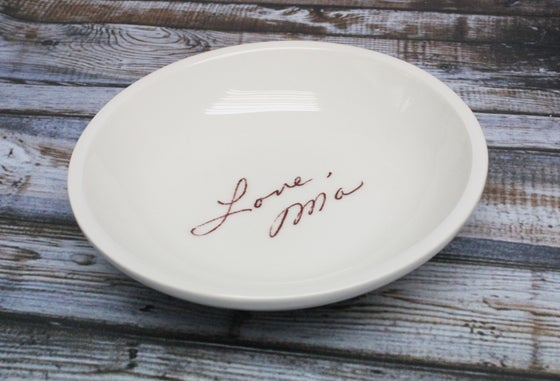 Image of Ring Dish with Handwriting