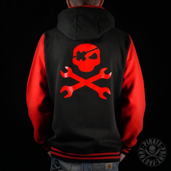 Image of Teddy Capuche MECA SKULL rouge