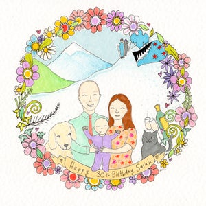 Image of Personalised FAMILY & FRIENDS Illustrations