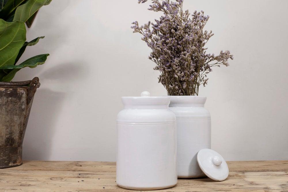 Image of Bote cerámica blanco