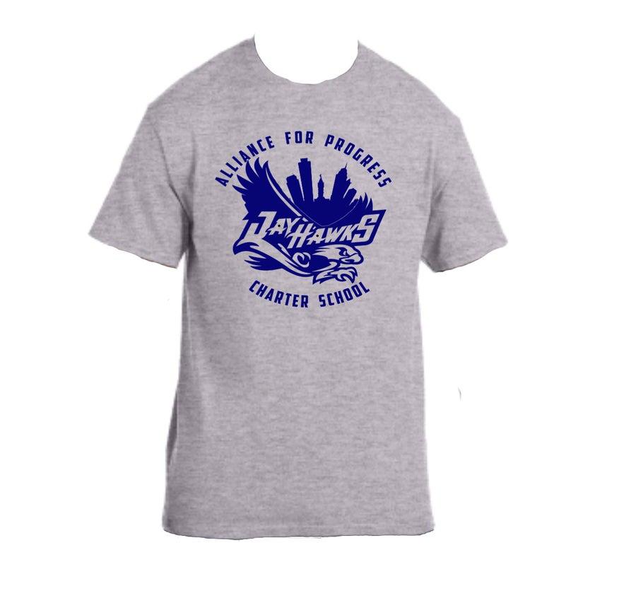 Image of Gray Jayhawks T-Shirt