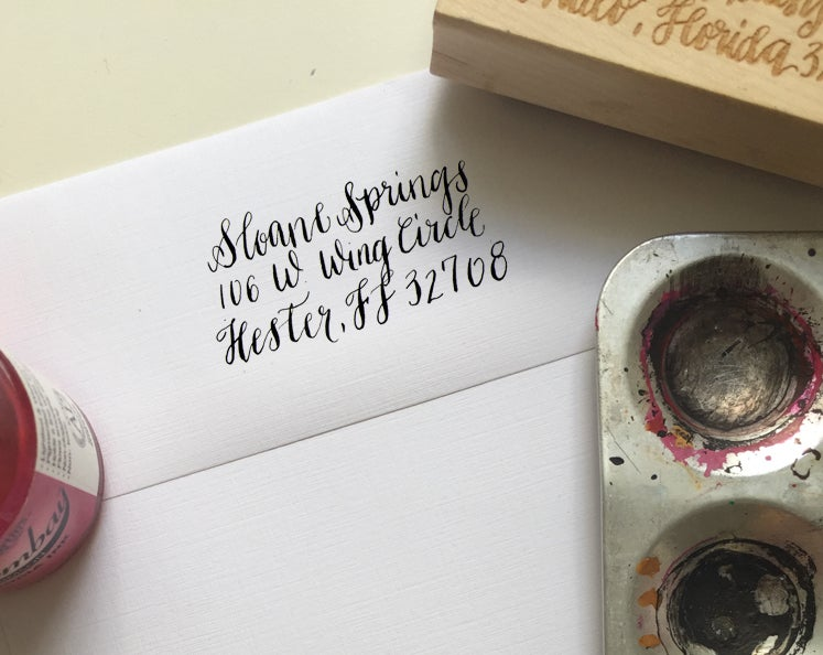 Image of Custom Calligraphy Stamp