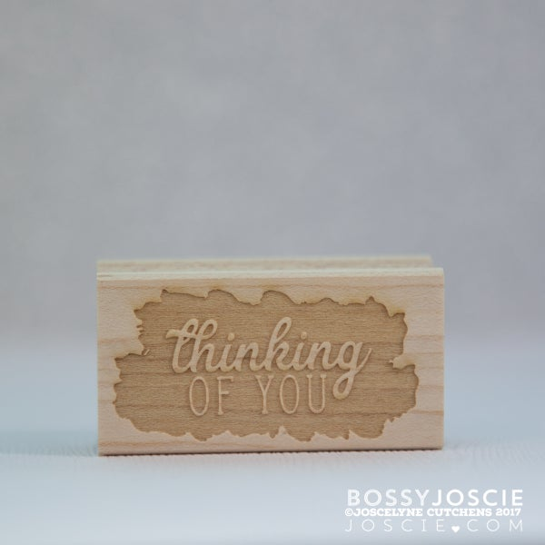 Image of thinking of you sentiment stamp