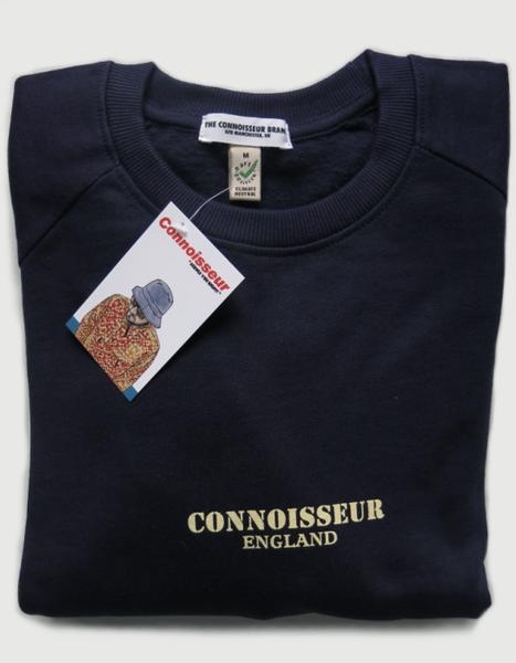 Image of SWEATSHIRT 'CONNOISSEUR ENGLAND' [NAVY]