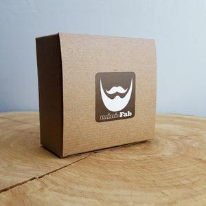 Image of Beard Comb, Balm & Cufflink Set - Personalized Straight Razor Wood Comb Kit - Beard Gift Set