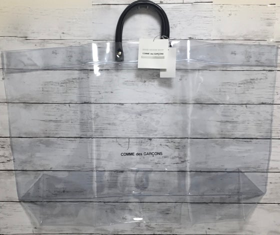 Image of Comme Des Garcons Good Design PVC Vinyl tote Bag