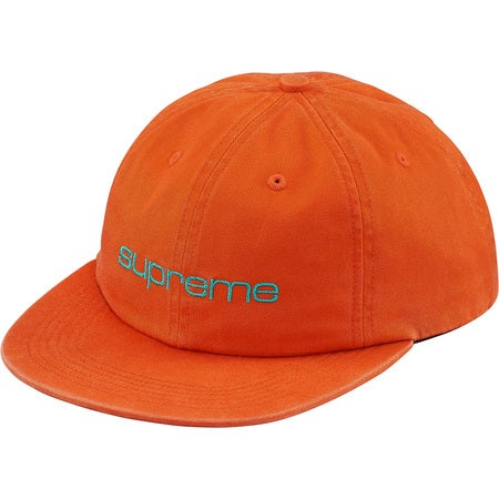 Image of Supreme - Compact Logo 6-Panel (Orange)