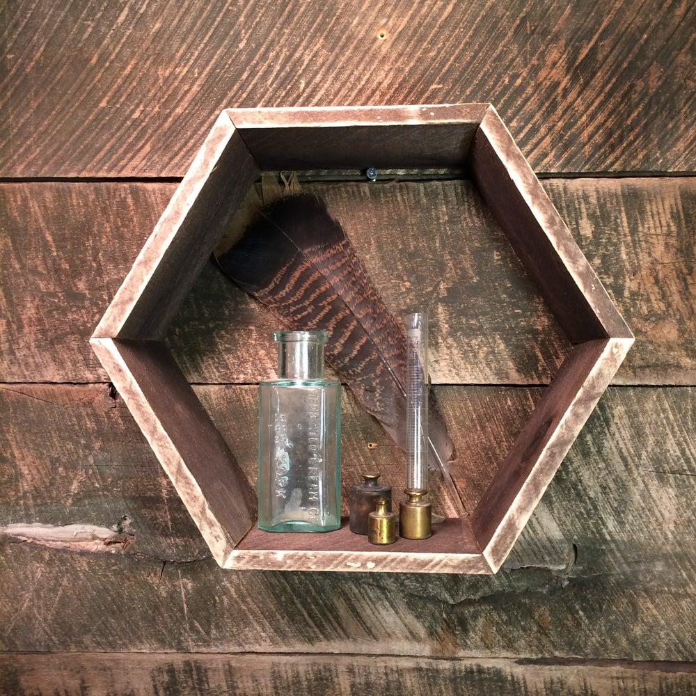 Image of Rustic Hexagon Shelf