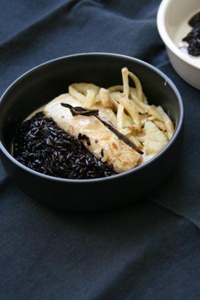 Image of Cabillaud vanillé riz vénéré (et fenouil)