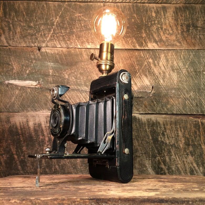 Image of Vintage Folding Camera Lamp
