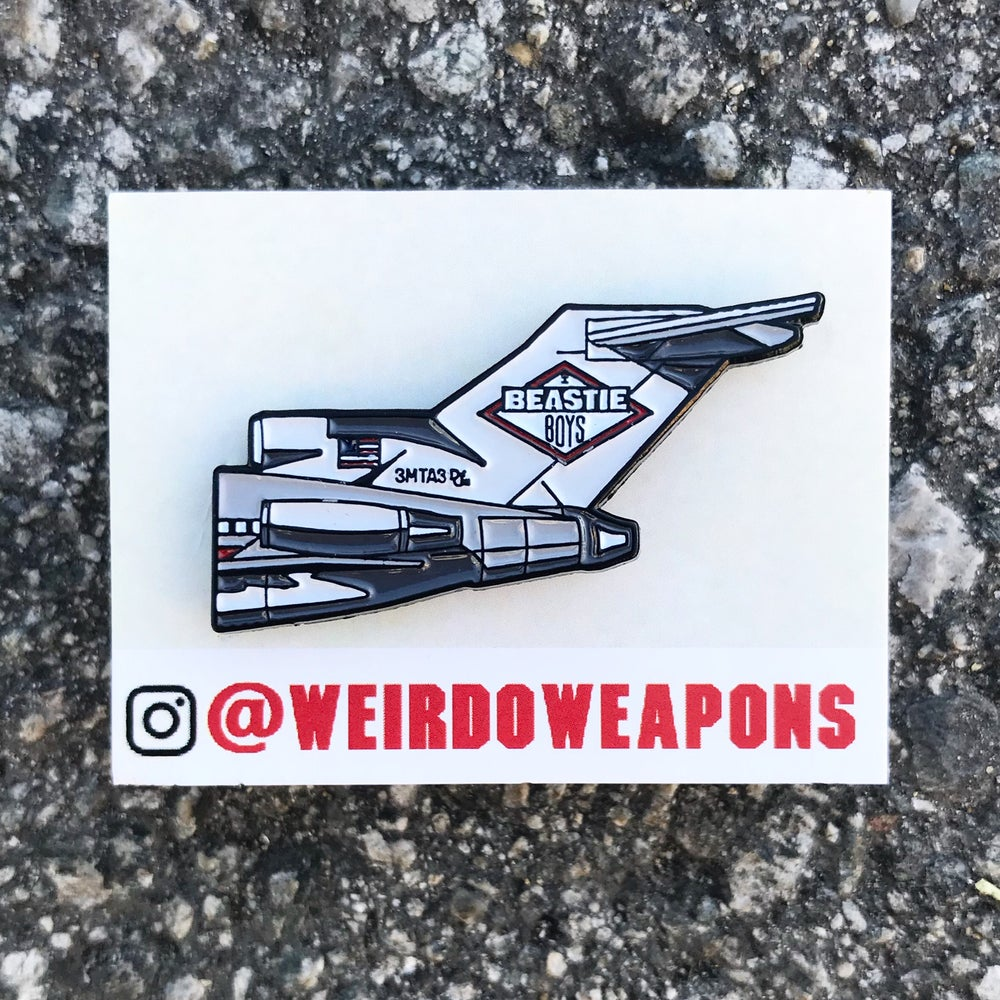 Image of Beastie Boys, Licensed to Ill enamel pin