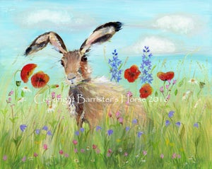 Image of MEADOW HARE - CHUNKY CANVAS WRAPS