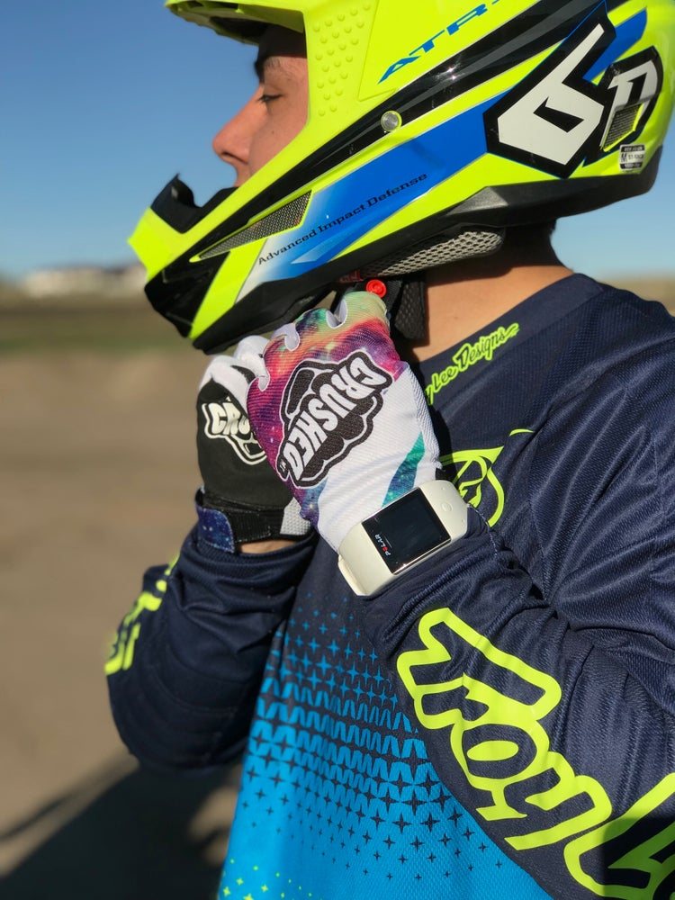 Image of Galaxy Crushed MX Motocross Glove
