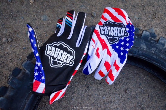 Image of USA Crushed MX Motocross Glove