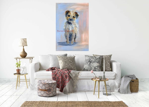 Image of BORDER TERRIER - CHUNKY CANVAS WRAPS