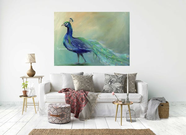 Image of POSING PEACOCK - CHUNKY CANVAS WRAPS