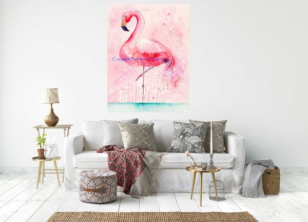 Image of PINK FLAMINGO - CHUNKY CANVAS WRAPS