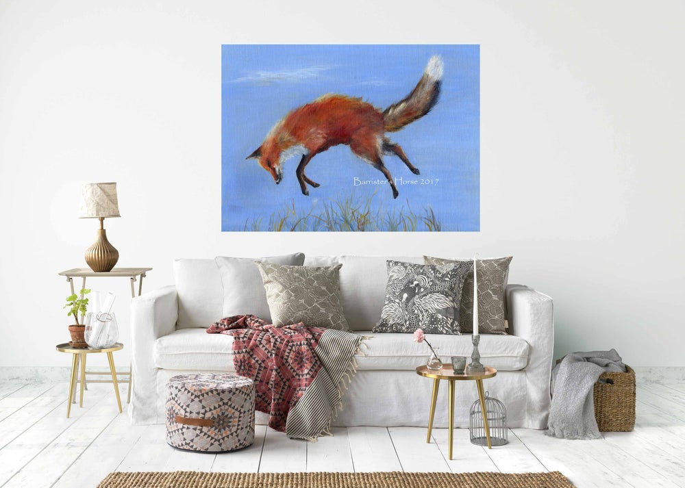 Image of JUMPING FOX - CHUNKY CANVAS WRAPS