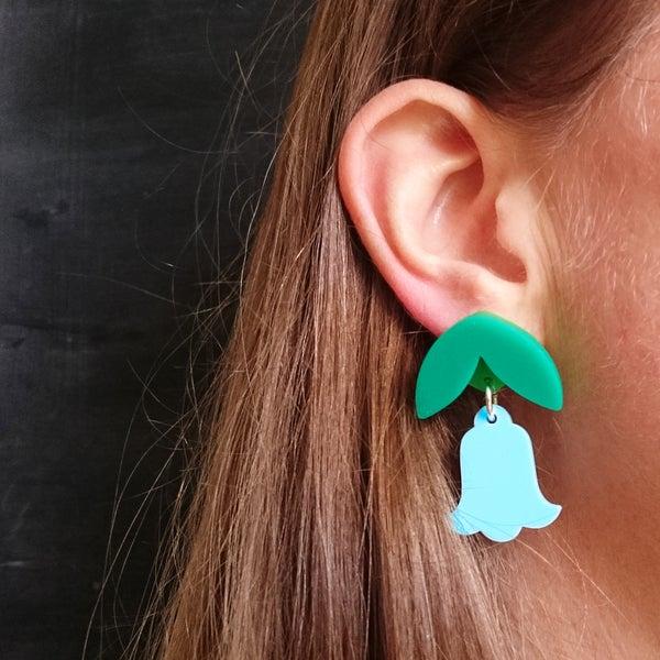 Image of Dangly Bluebell earrings
