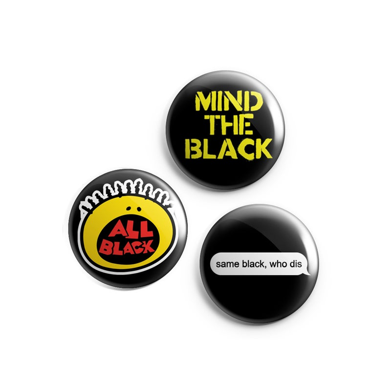 Image of Mind the Black Button 3-Pack