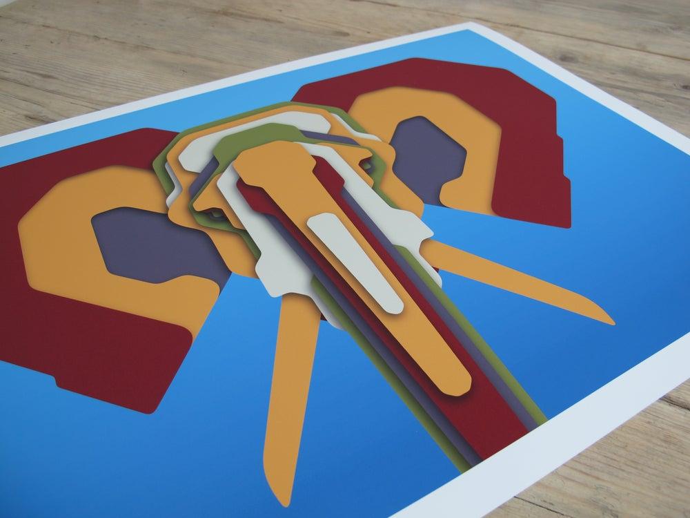Image of Technicolour Pachyderms V.1 Framed