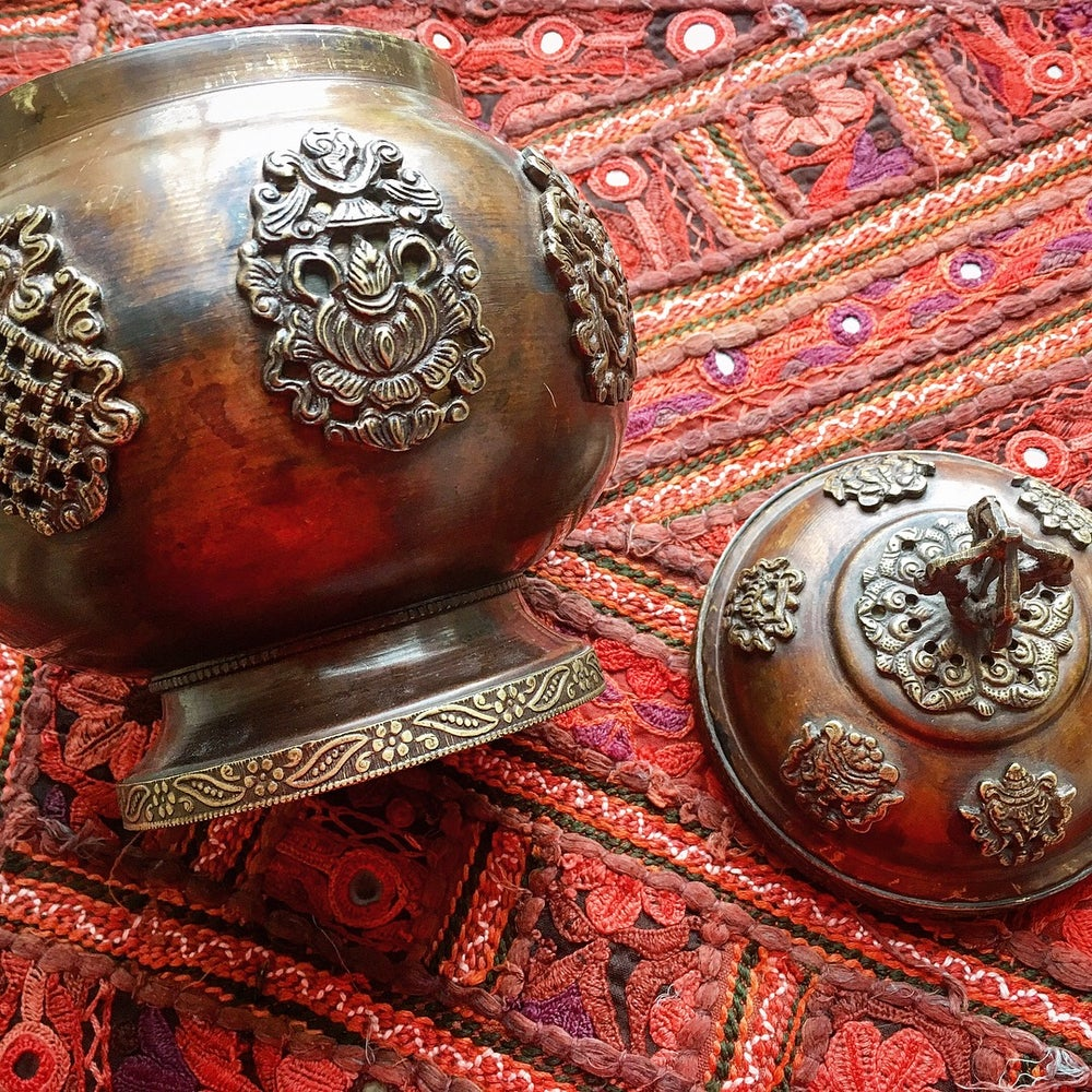 Image of Large Tibetan Copper and Brass box