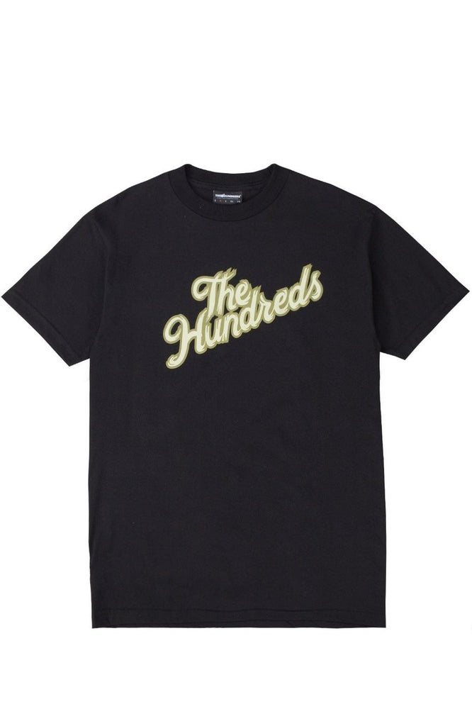Image of THE HUNDREDS - WHEEL SLANT T-SHIRT (BLACK)