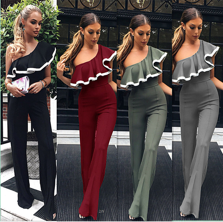 Image of Fashionable sexy pall - side micro - style jumpsuit