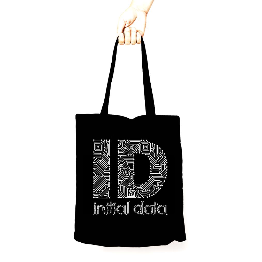 Image of Data Tote Bag Black