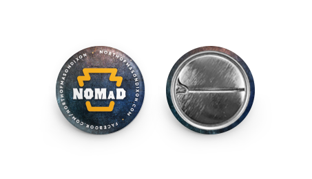 "Image of NOMaD 1"" Button (Pre-Order)"