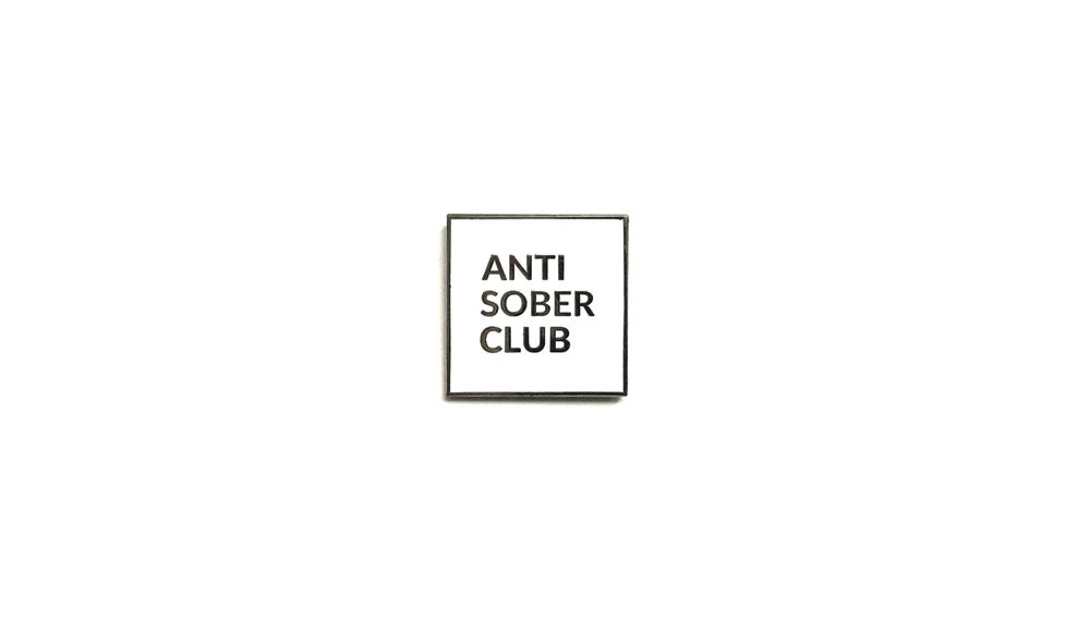 "Image of ""Antisober"" Lapel Pin"