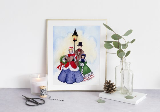 Image of Christmas carolers