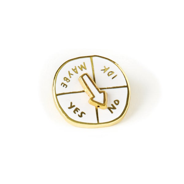 Image of Indecisive Spinner Pin