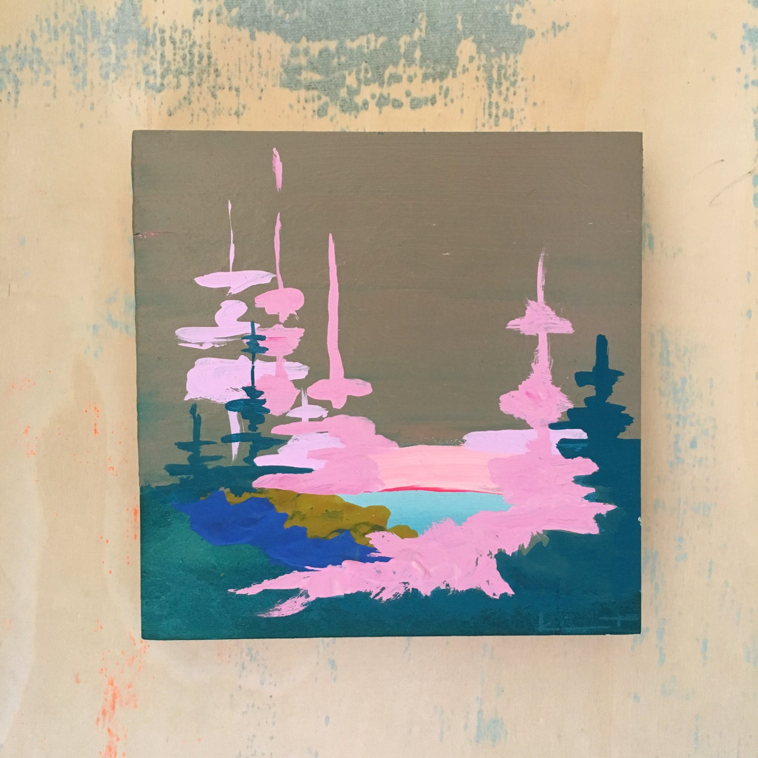 Image of Tiny Painting No. 64 (cement, lilac, marine)