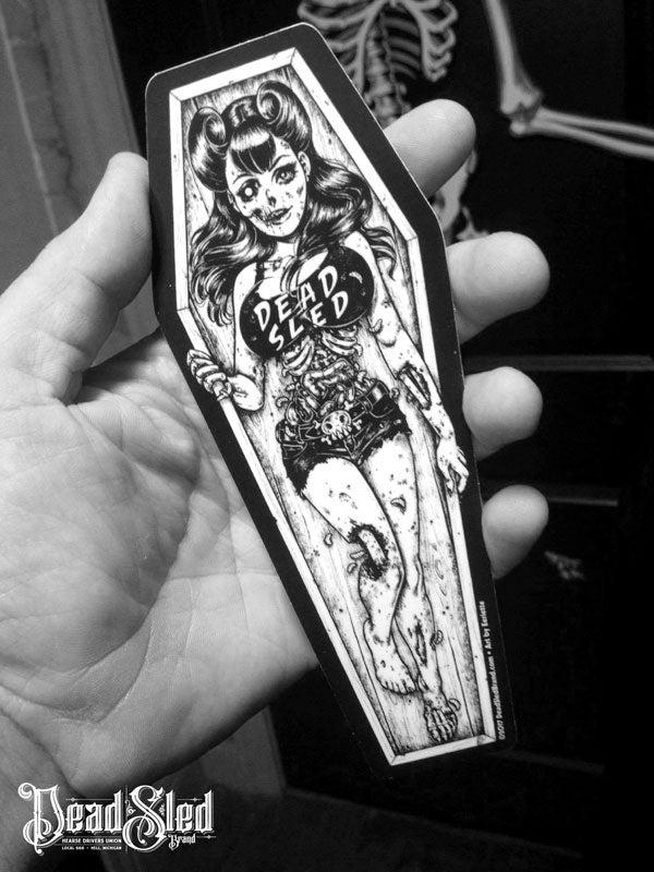 Image of Dead Sled Dame 7-inch Die-Cut Vinyl Sticker