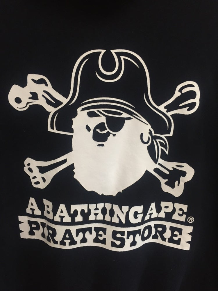 Image of Bape Pirate Store Japan Exclusive Hoodie Blk