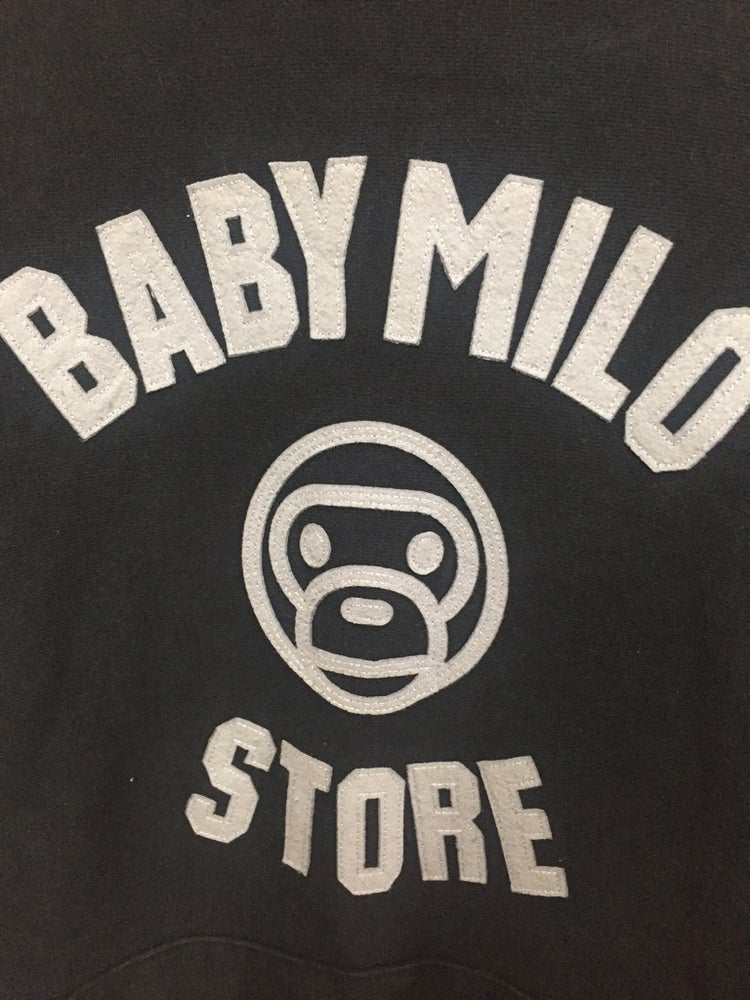 Image of Bape Japan Baby Milo Store Embroidered Hoodie
