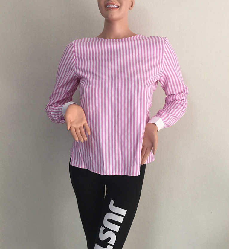 Image of Sexy open band striped shirt