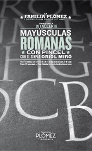 Image of Mayúsculas romanas con Oriol Miró